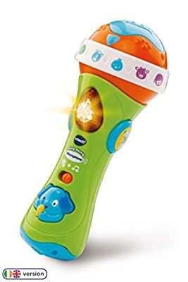 VTech Sing Along Microphone for Kids | Toddler Toy Microphone with Amplified Voice Effect and Animal Sounds | Educational Toys for Boys & Girls 1, 2, 3+ Year Olds, 78763 from Vtech Baby