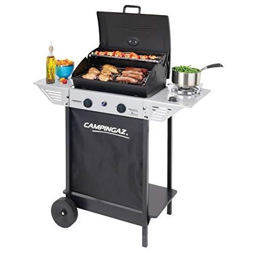 piushopping Campingaz Xpert 100 LS - Barbacoa de gas, color gris y negro, para jardín, terraza, camping, 98 x 48 x 124 cm