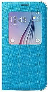 Samsung Galaxy S6 S-View Flip Fabric Cover - Light Blue