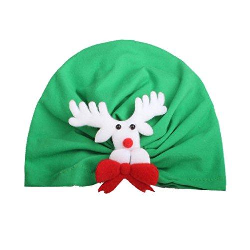 Bebe Pere Noel Déguisement Bebe Bonnet en coton (Vert)