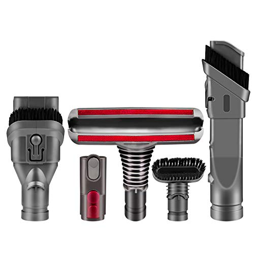 5 in 1 Vacuum Attachments Brush Kit Replacement for Dyson V8 Absolute Animal V6 Absolute V7 Motorhead Cord-Free Vacuum Cleaners DC16 DC24 Animal Multi Floor DC34 Refurbished DC35 Exclusive