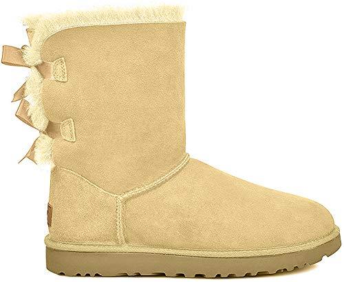 UGG Australia Bailey Damen Schleife halbhohe, wadenhohe Stiefel, schwarz, Beige - Soft Ochre - Größe: 43 1/3