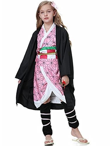Cosplay Costume Tanjirou's Sister Cosplay Outfits Halloween Kimono for Kids Girls and Women
