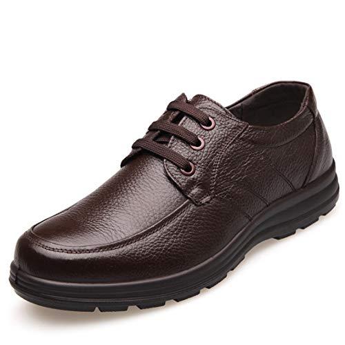 HMAKGG Hombre Zapatos para Cocina Zapatos de Seguridad, Cocina Cocinero Zapatos Anti-Estático Anti-Deslizante,Marrón,42 EU