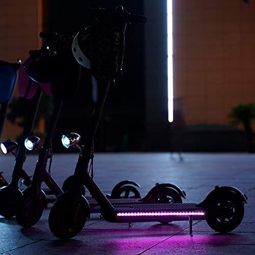 LTXDJ Tira de luz para Scooter eléctrico, luz de Tira LED de Advertencia de Scooter Plegable, luz Decorativa de Seguridad para Ciclismo Impermeable para Xiaomi M365 / Pro/Ninebot