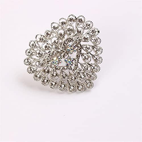 10 unids amor servilleta anillo boda servilleta con forma de corazón anillo de la servilleta