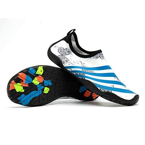 Zapatos de baño Descalzos,Zapatos de Agua con Tela Transpirable,Zapatos de Playa Transpirables Aguas Arriba Camuflaje Snorkel Zapatos-B Butterfly_37 ⭐