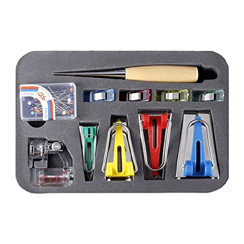 60pcs Costura Patchwork Herramienta de tela Bias Binding Tape Maker Kit de...