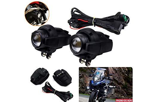 Motorrad Zusatzscheinwerfer Nebel mit Schalterpaket Set links und rechts Für R1200GS ADV F800GS F650GS