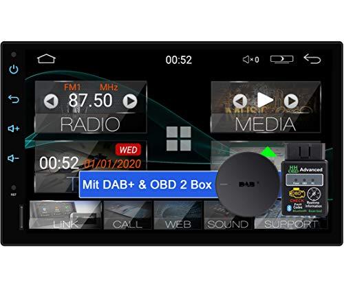 Tristan Auron BT2D7018A Android 10 Autoradio mit Navi + OBD 2 und DAB Plus Box I 7