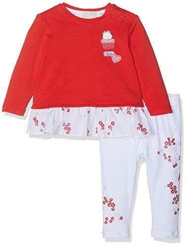 Chicco Completo T-Shirt + Leggings Conjunto de Ropa, Rojo (Bianco E Rosso 037), 74 (Talla del Fabricante: 074) para Bebés