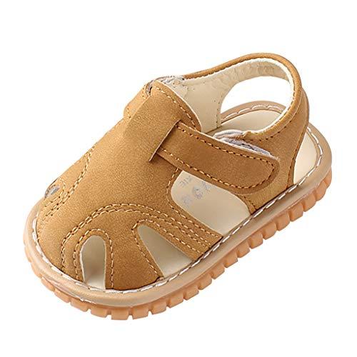 Allence Unisex-Baby Sandalen Mädchen Jungen Kindersandale Geschlossene Leder Innensohle Sandale Sommer Sandaletten Lauflernschuhe Schuhe