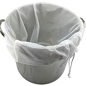 SOONHUA Straining Bag, Nut Milk Bag, Fine Mesh Food Strainer Filter Bags for Nut Milk, Green Juice, Cold Brew, Home… |