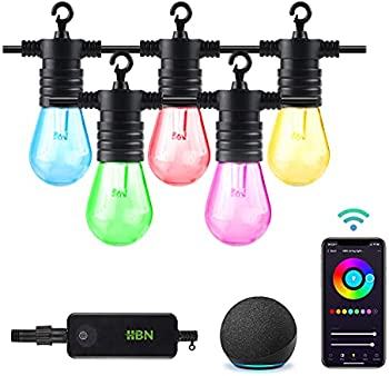 HBN Outdoor 48ft RGBW LED Smart String Lights