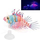 Gerioie Pez de simulación, pez Falso Luminoso Hecho artificialmente para decoración(Rosado Azul)