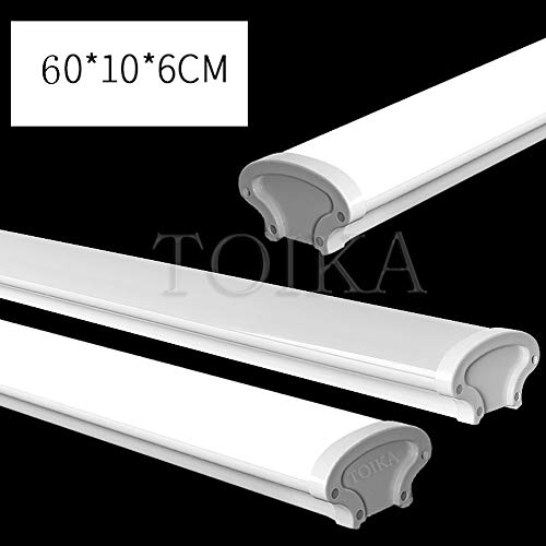 AKATOBA 2ft LED Vapor Proof Tube Light Waterproof IP65 2 Foot 30W 3600 LM Waterproof Dustproof Ceiling Lights Shop Light Factory Warehouse Industrial Outdoor Lighting 100W Equivalent (48, Warm White) 5
