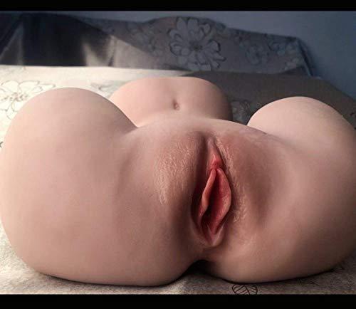 JiangOu Realistico Tasca P`üššýes for Gli Uomini Adulti Giocattoli Life Size, Size 3D Full Donne Torso Femminile TPE con 2 Fori