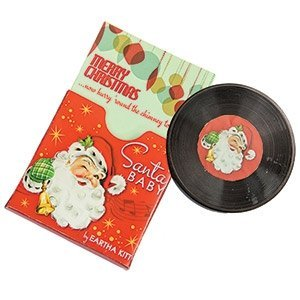 Mr. Christmas Santa Baby By Eartha Kitt or Here Comes Santa Claus By Gene Autry Record Musical Card Box (Santa Baby) by Mr. Christmas
