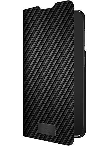 Black Rock - Hülle Carbon Booklet Klapphülle Hülle Passend für Samsung Galaxy S21 5G I Fiber Cover, 360 Grad Handyhülle, Magnet Verschluss (Schwarz)