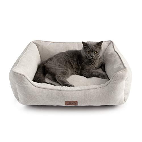 Bedsure 猫 ベッド ベージュ ペットベッド 犬 ペットソファー 可愛い かわいい 丸洗い ペットクッション 猫...