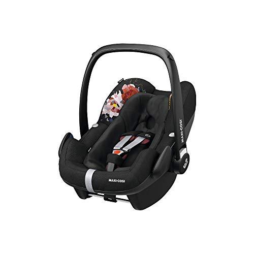 Maxi-Cosi Pebble Plus Babyschale, sicherer Gruppe 0+ i-Size Kindersitz (0-13 kg), nutzbar ab der Geburt bis ca. 12 Monate, passend für FamilyFix One Basisstation, digital flower