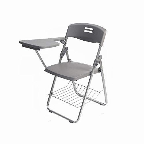 Stoelen en krukken Met WordPad gratis installatie-vouwen geïntegreerde bureaus en stoelen grote capaciteit plastic klapstoel bureaustoel vergadering stoel plastic klapstoel rugleuning stoel, grijs