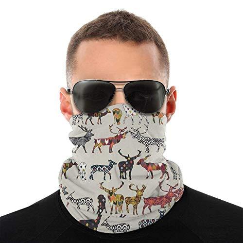 Mike-Shop Haferflocken Spice Deer Halswärmer Hals Gamaschen Gesichtsschalwärmer Weiche Sturmhaube Schal Gesichtsschutz mit 6 Filtern