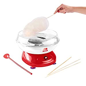 Domoclip DOP136 500W Rojo algodonera de azúcar - Máquina de algodón de azúcar (500 W, 265 mm, 265 mm, 150 mm)