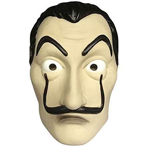 Boolavard Máscara de robo de dinero Máscara de Dalí - Máscara de disfraz de La Casa De Papel unisex Salvador Dalí Cosplay Víspera de Todos los Santos