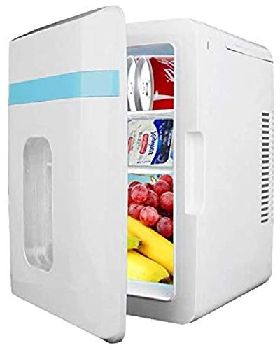 Mini refrigerador portátil para dormitorios Refrigerador pequeño silencioso de 10L para automóvil con función de enfriamiento y calentamiento Ac + Dc