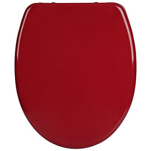 WOLTU WS2600 Abattant WC en Duroplaste,Couvercle de WC softclose Descente progressive,siège de toilette Fixation rapide, Charnières resistantes, Enrobage antibactérien,Bordeaux