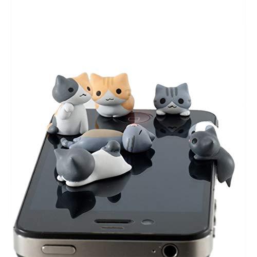 nikgic gato anti polvo enchufe auricular agujero Protección Polvo Tapón auriculares tapón antipolvo de jack 6pcs