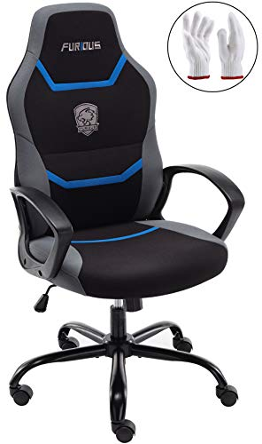 Gaming Chair Racing Style Office Chair Swivel Computer Gamer Chair with Fully Foam, Esports Video Game Chair, Lumbor Support chair gaming