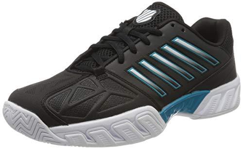 K-Swiss Men's Bigshot Light 3 Tennis Shoe (Black/White/Algiers Blue, 7)