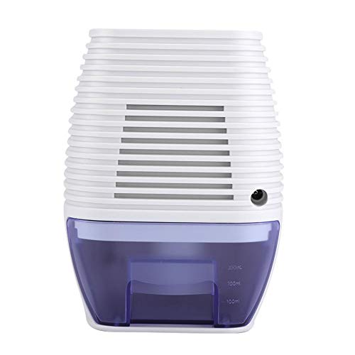 Electric Dehumidifier, 3L ABS Power off Automatically Small Portable Low Noise Dehumidifier with Indicator Light, Detachable Water Tank, Safe Non-toxic Suitable for Wardrobe Closet Shoe Cabinet(US)