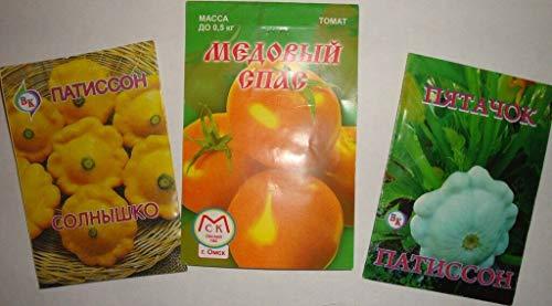 Samen-Paket: Russische Fleischtomate Und Squash Von Sibirien (No GMO!)