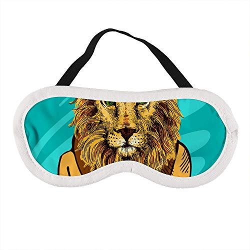 Draagbaar Oogmasker voor Mannen en Vrouwen, Cartoon Leeuw Koning De Beste Slaap masker voor Reizen, dutje, geven U De Beste Slaap Omgeving