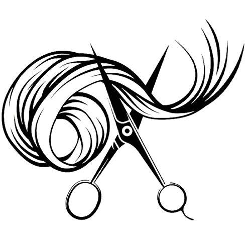 MUXIAND Auto Decor, Schaar haar 16x13cm Aangepaste PVC DIY Auto Motorfiets Sticker Art Accessoire Creatieve Spel Stijl Helm Decal Verjaardag Gift 5 Stks