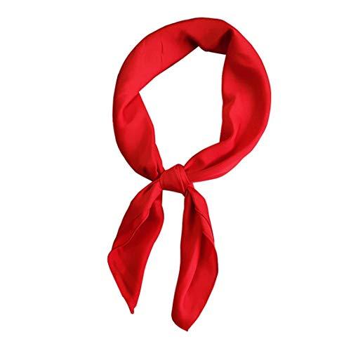 Aisoway Plazoleta De Las Mujeres Bufanda De Cuello De Raso Decorativo Bufanda Pequeño Pañuelo Pañuelos De Seda Pañuelo Para Damas