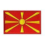 Aufnäher mit Mazedonien-Flagge, bestickt, militärisch, taktisch, Moral Patch (Mazedonien)