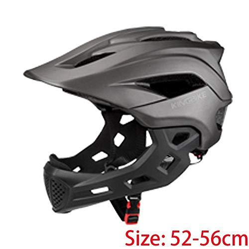 Claean-Acces-Home CascoHelmetLoop Casco de Bicicleta para niños Cubierta de Cara Completa Cascos Deportivos Niños s MTB Cascos de Ciclismo de Bicicleta Patinaje Protección segura-J-266-Titanio