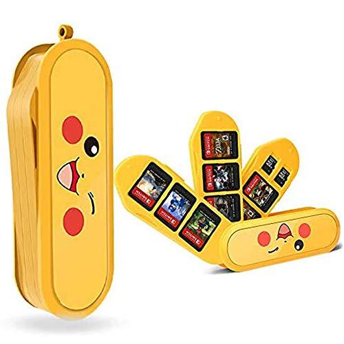 Etui Kompatibel Für Nintendo Switch - Passend für bis zu 8 Game Card Aufbewahrungskoffer Speicherkarten Organizer Reisebox Hartschalen (Yellow)