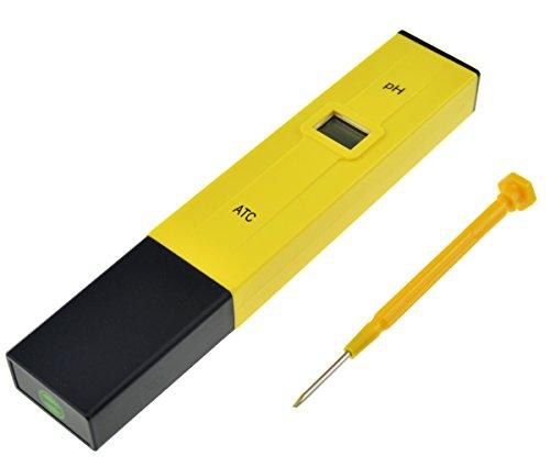 FiveSeasonStuff ® électrique pH mètre Digital de poche pour Hydroponie d'écran LCD Pen Testeur de Compensation automatique de contrôle de température) technologie pour Aquarium, piscine, Spa etc. HJ9