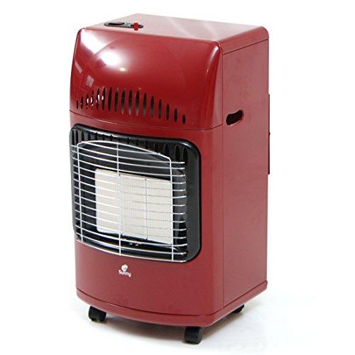 Sunny Stufa infrarossi a gas GPL resa 4200W piezo elettrico parete terra S38 ROSSO