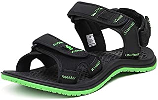 Wildcraft Men's Joo Black/Green Sport Sandals WC 51556 BLK_GRN - 11 UK/India (45 EU)