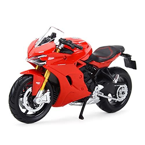 El Maquetas Coche Motocross Fantastico 1︰18 para Ducati 1199 Panigale Simulación Miniatura Aleación Modelo De Moto Juguete Colección De Regalos Decoración Expresión De Amor (Color : 2)