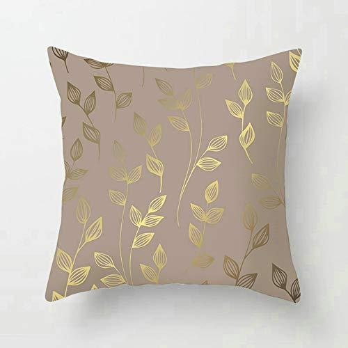Socoz Funda para cojines de sofá, fundas de cojín de 50 x 50 cm, fundas de sofá y cojines de Grass con hojas estilo 30