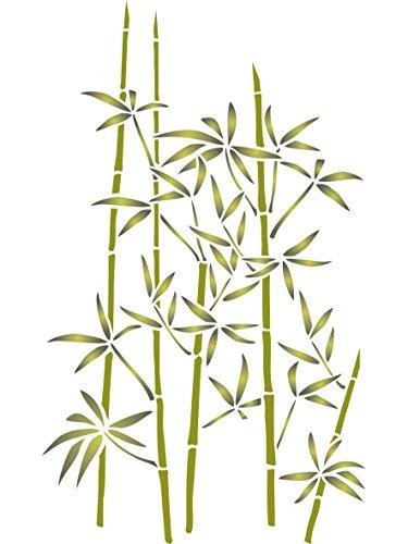 Bambus Schablone, wiederverwendbar, große Evergreen Arbor, bleibt das Blattwerk Wand–Vorlage, auf Papier Projekte Scrapbook Tagebuch Wände Böden Stoff Möbel Glas Holz etc. m