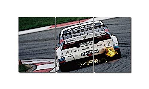 Quadro trittico Alfa Romeo 155 V6 TI MARTINI RACING 180X90 Cm