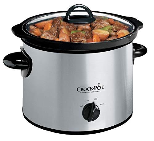 Crock-Pot SCR300-SS 3-Quart Manual Slow Cooker, Silver (Renewed)